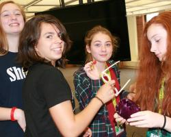 SET campers hold 3-D printed items
