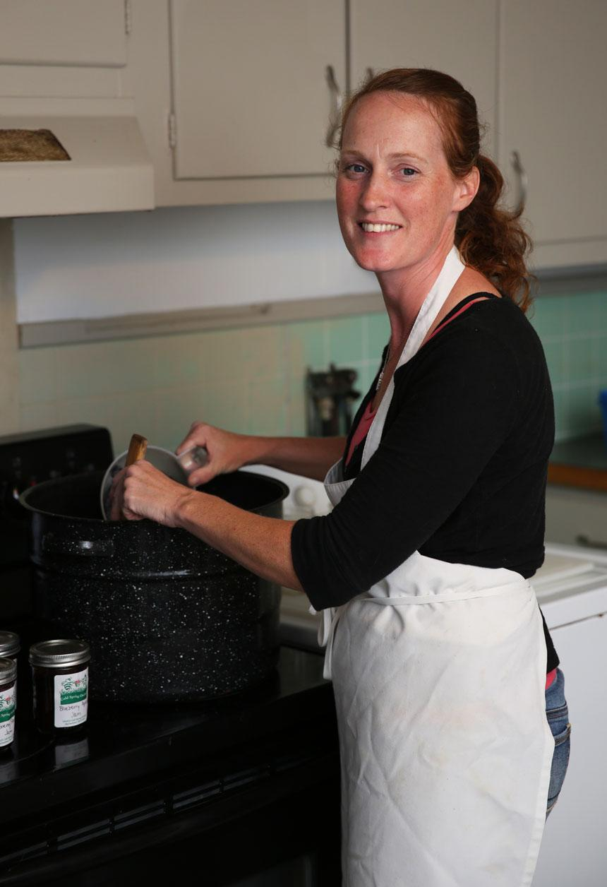 Kristen Hanley makes jams and jellies at Cold Spring Orchard