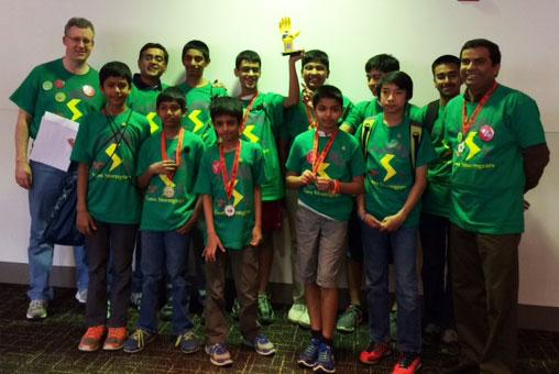 Massachusetts 4-H Robotics Team at World Festival
