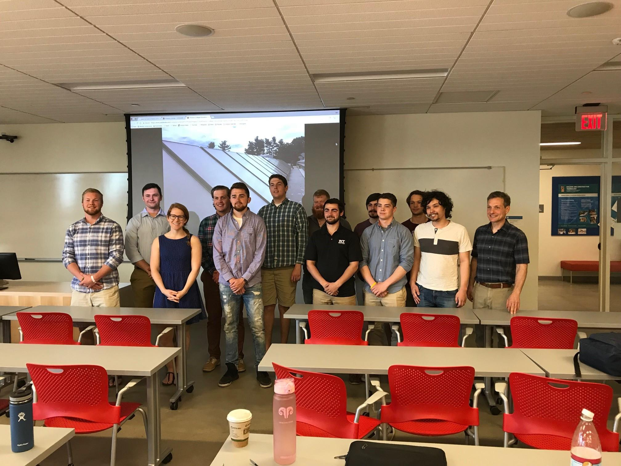 Dr. Ben Weil and the 2018 UMass Clean Energy Corps