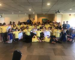 group photo of 4-H members at Explore UMass