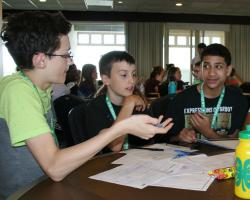 4-H campers discuss how to create a phone application