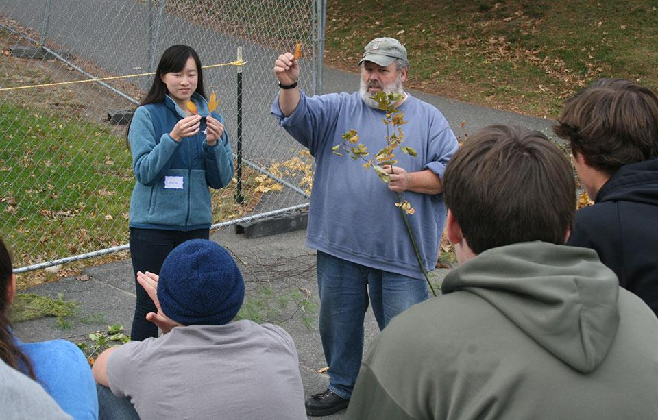 Forester Joe Perry runs tree identification workshop