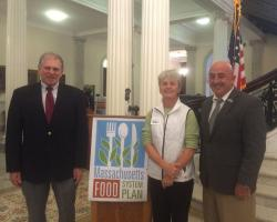 Mass Ag Commissioner, John LeBeaux, Sonia Schloeman, UMass Extension and Rich Bonanno, UMass Extension