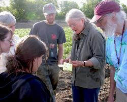 Ruth Hazzard teaching vegetable farmers