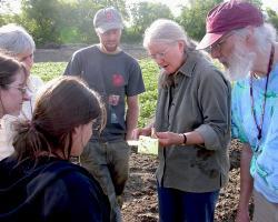 Ruth Hazzard teaching vegetable farmers