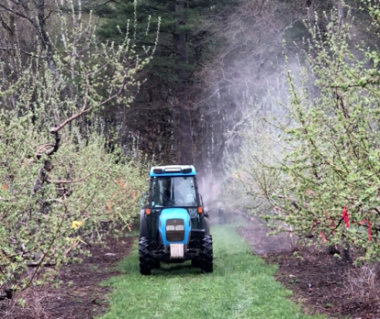 tractor spray orchard