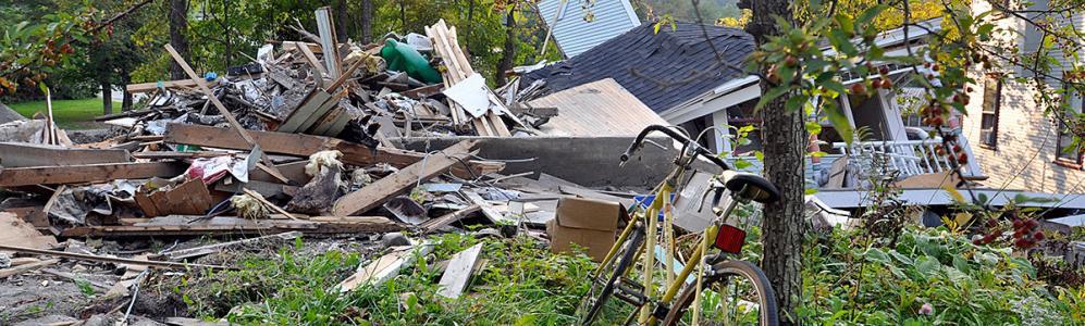 Storm debris